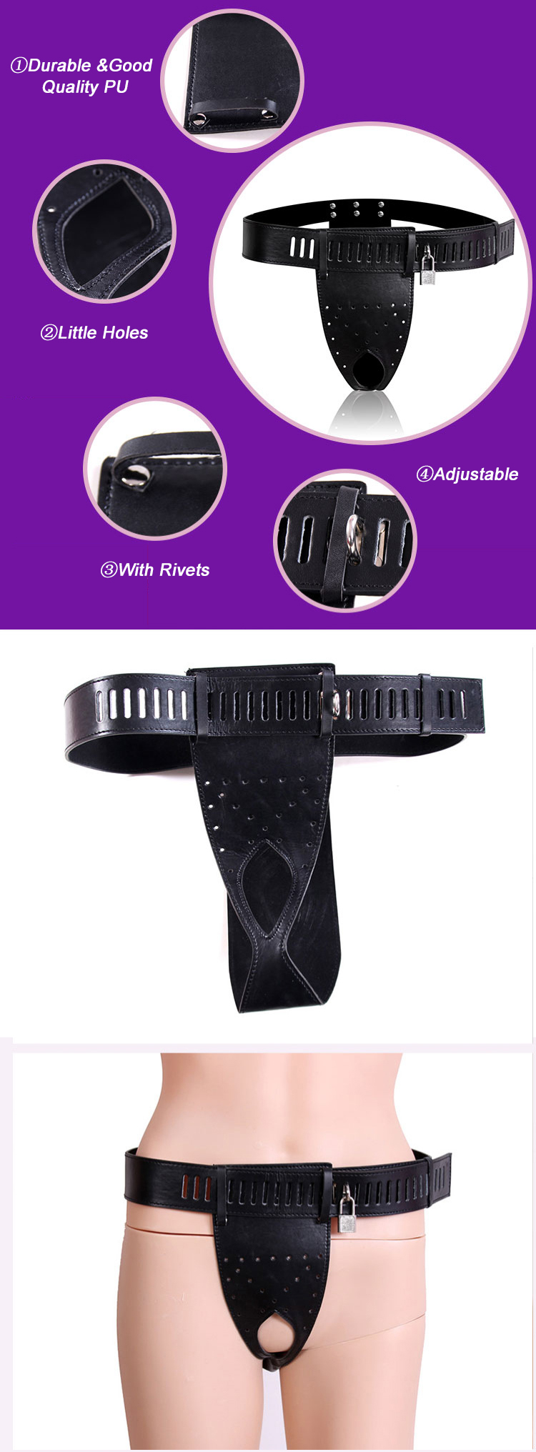 PU Female Adjustable Panties Strap Ons For Couples Sex Toys