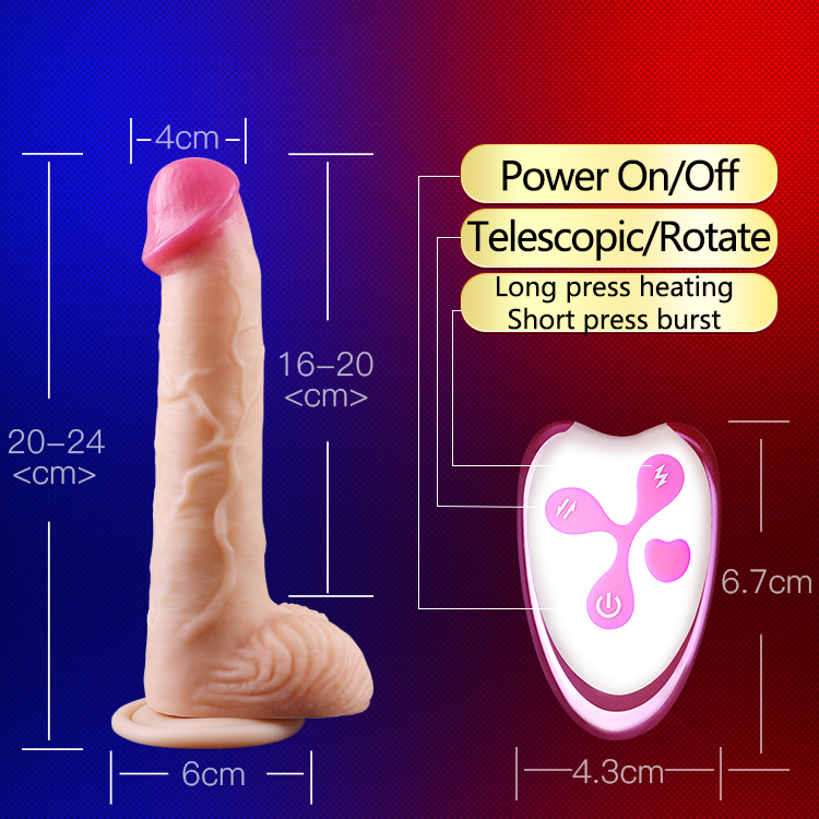 YEAIN Telescopic Rotate Realistic Vibrators Heating Dildos Sex Toys For Women Remote Control