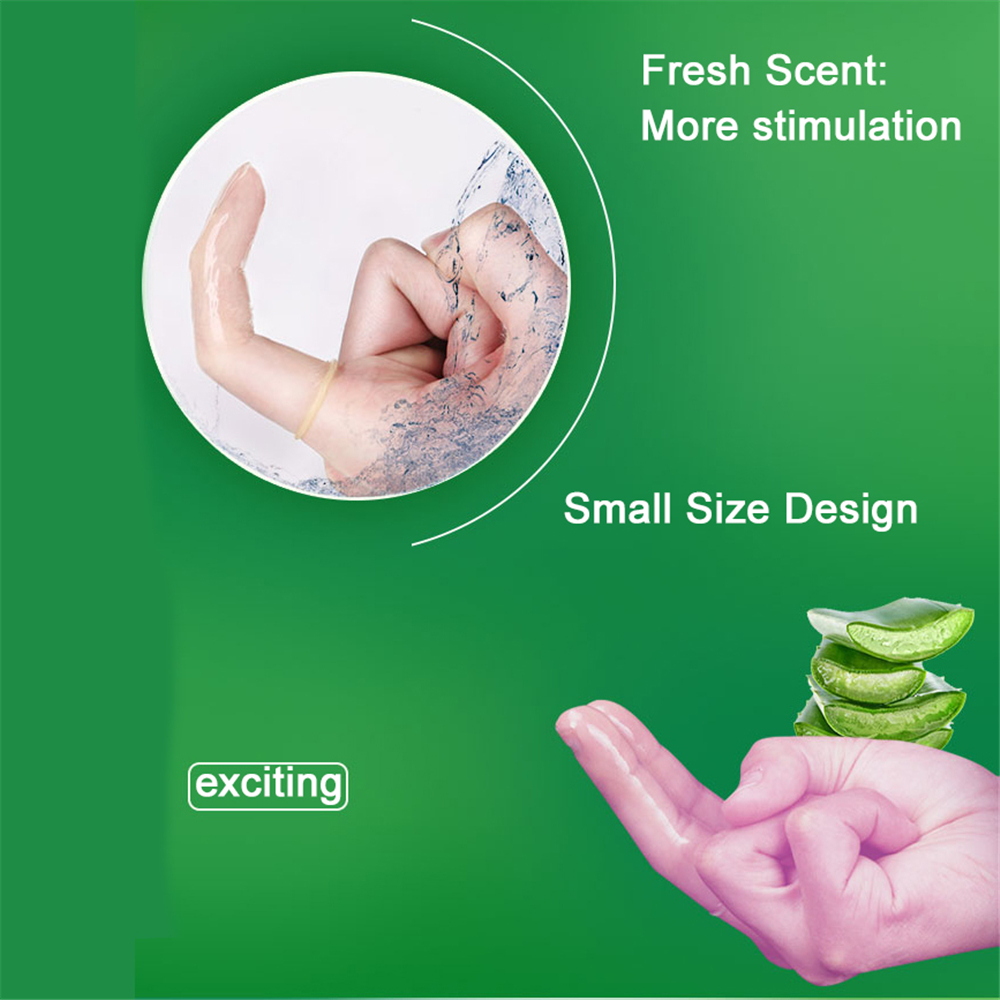 QQ Cool Mint Nourishing Aloe Finger Condoms Safe Medical Sex Toys
