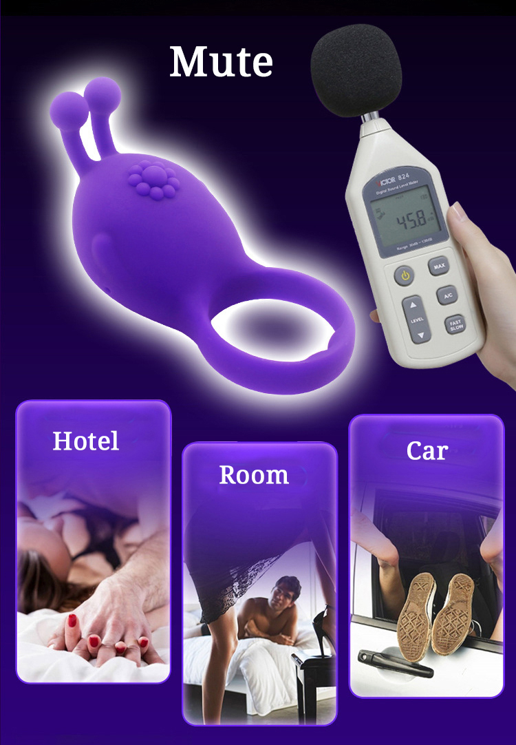 Aphrodisia 3 Colors Tentacle Cute Penis Rings Vibrating Waterproof Sex Products