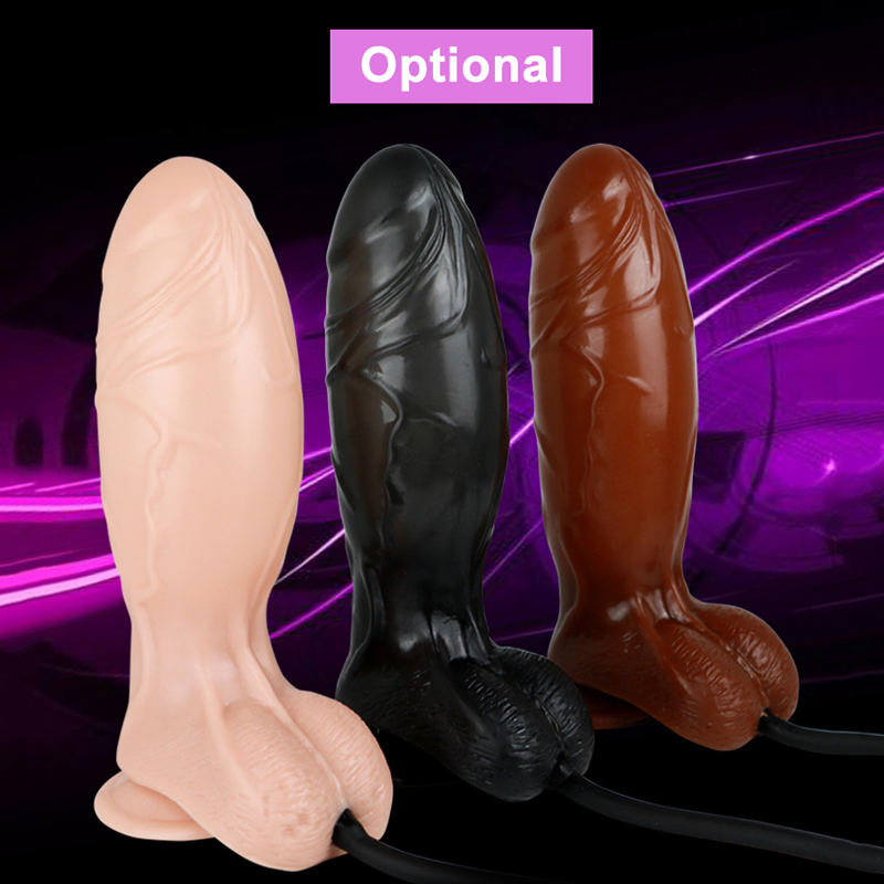 Inflatable Suction Cup Realistic Dildo Adjustable Huge Brutal Dildos Pump Sex Toy for Women