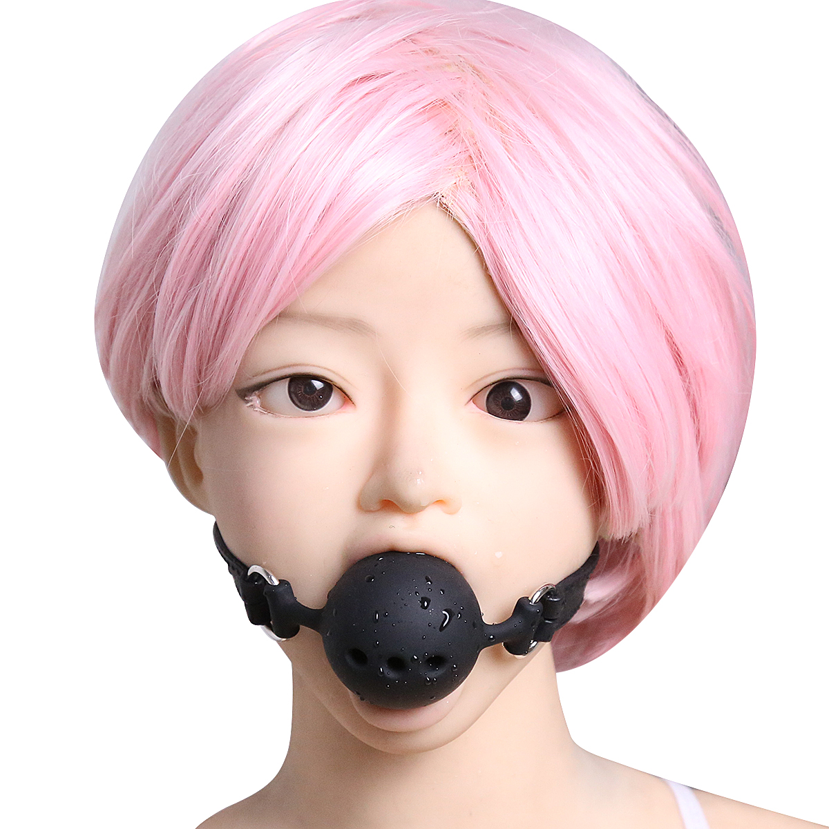 3 Sizes Open Mouth Breathable Ball Gags Restraints BDSM Wear Sex Toys For Couples