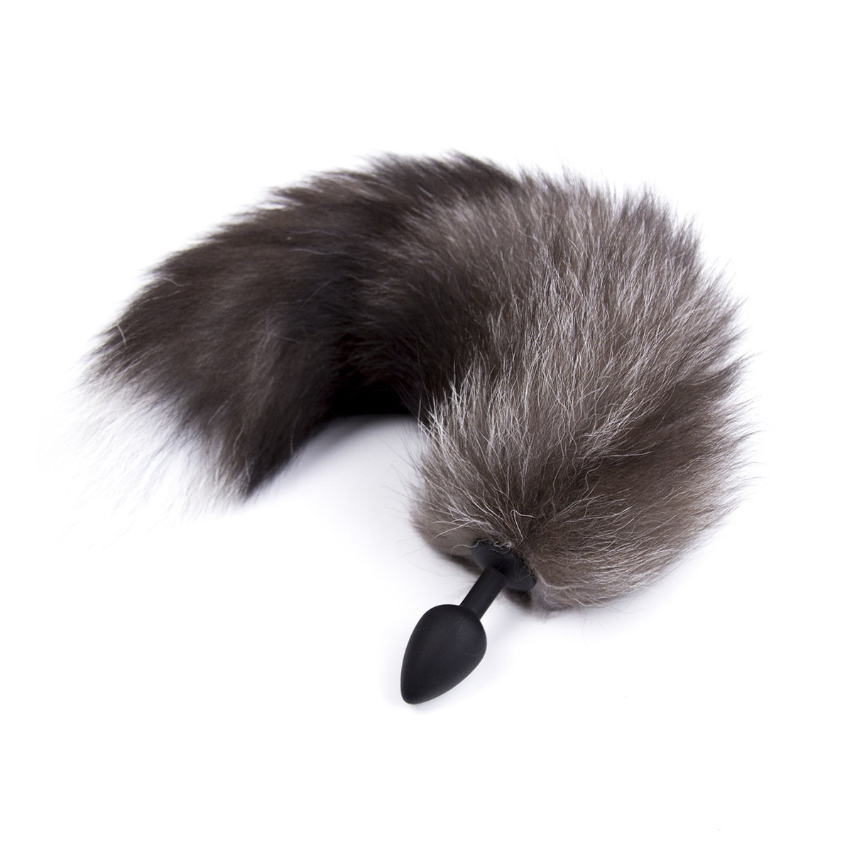 Fluffy Fox Tail Silicone Butt Anal Plug Erotic Toys