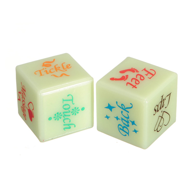 Fun Flirt Luminous Lovers Couple Sex Position Game Dice Toys For Adult Couples