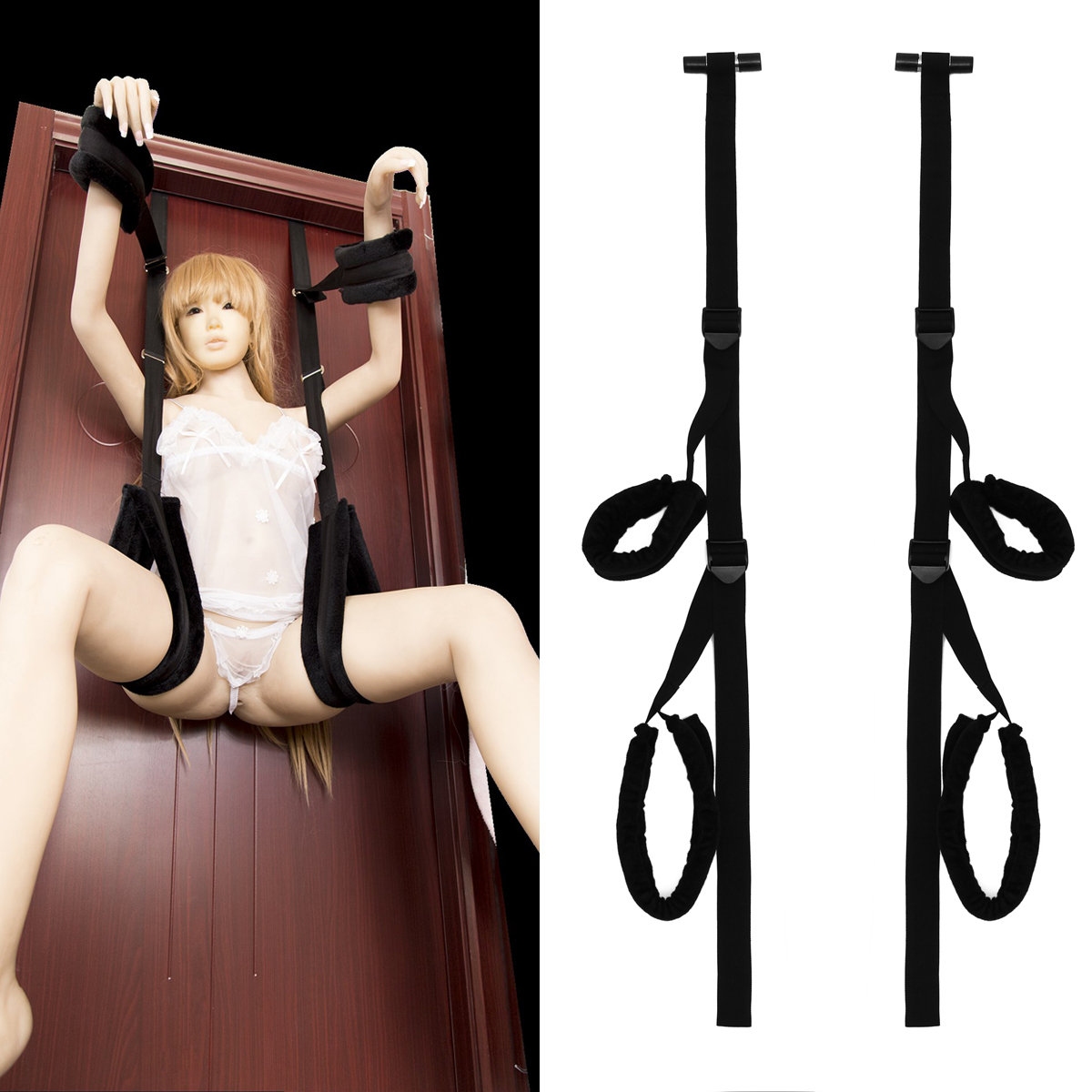Stuck Door Adjustable Wrist Lap Restriants Sex Swings Bondage Boutique For Couples