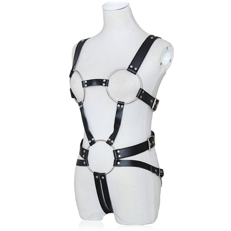 Metal Ring Open Chests and Navel Restraint Adjustable Buckles